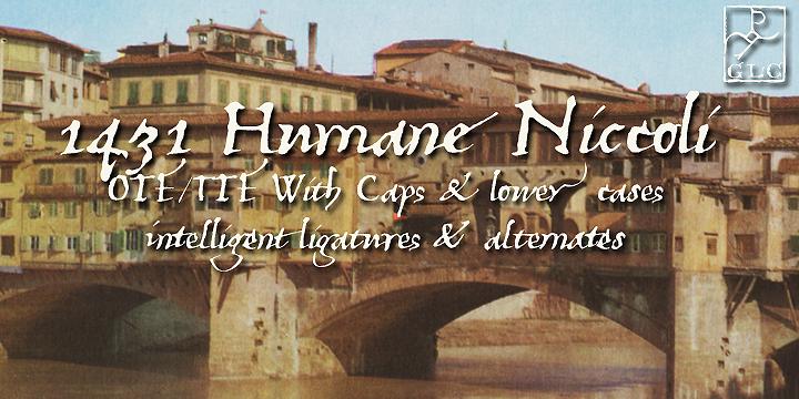 1431 Humane Niccoli font