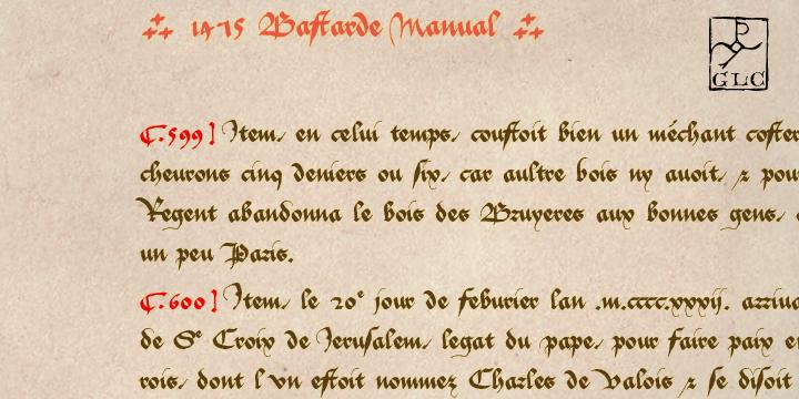 1475 Bastarde Manual font