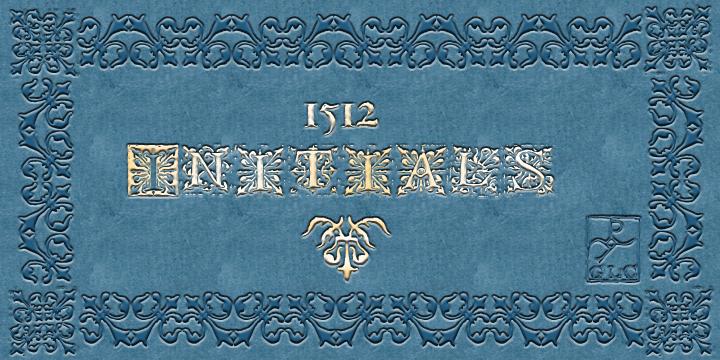 1512 Initials font