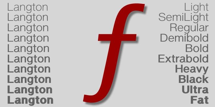 langton font