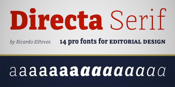 Directa Serif font
