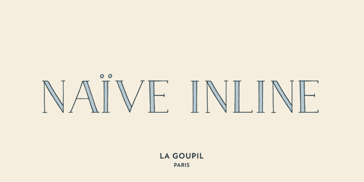 Naïve Inline font