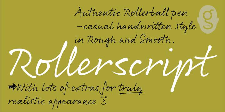 Rollerscript font