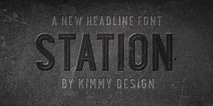 Station font