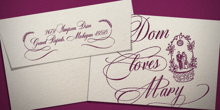 download DomLovesMary font