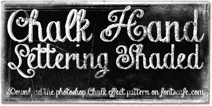 chalk hand font