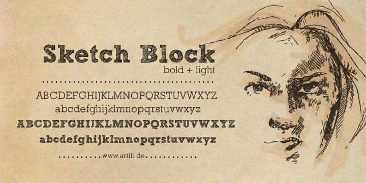 Download Sketch Block font