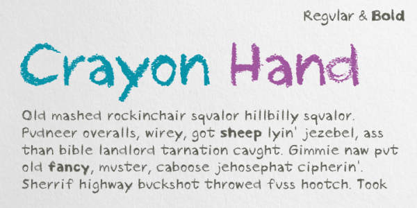 Crayon Hand font