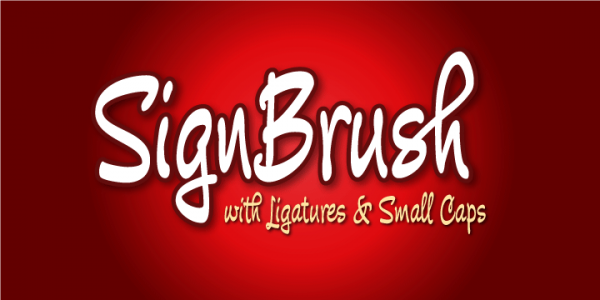 sign brush font