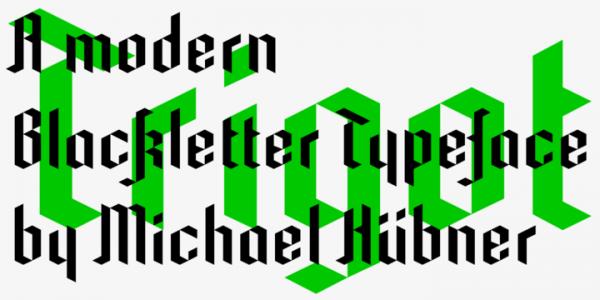 trigot font