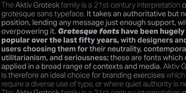 Aktiv Grotesk font